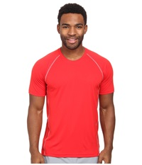 Adidas Climacool Mesh Crew Sld Red Tech Grey Men's Short Sleeve Pullover