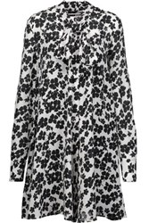 Mcq By Alexander Mcqueen Floral Print Silk Dress Ivory