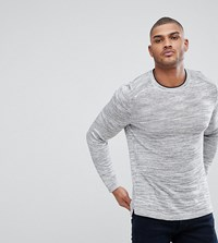 Ted Baker Tall Knitted Crew Neck Jumper Grey