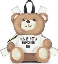Moschino Toy Bear Leather Backpack Black
