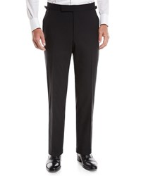 Tom Ford O'connor Wool Tuxedo Pants Black