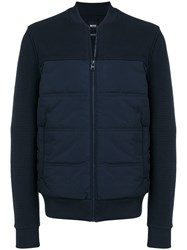 Hugo Boss Padded Bomber Jacket Blue