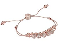 Guess Double Row Round Bead And Fireball Slider Bracelet Rose Gold Crystal Bracelet