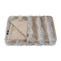 Helen Moore Faux Fur Throw 180X145cm Siberian Wolf