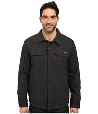 Prana Wooley Jacket Charcoal Tweed Men's Coat Black