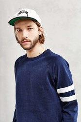 Bdg Athletic Stripe Sweatshirt Navy