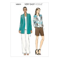 Vogue Women's Jacket Shorts And Trousers Sewing Pattern 9011