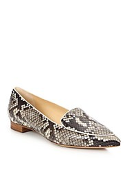 Alexandre Birman Python Loafers Natural