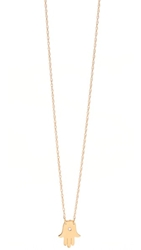 Jennifer Zeuner Jewelry Mini Hamsa Diamond Necklace Vermeil