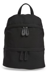 Street Level Faux Leather Trim Zip Backpack