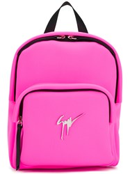 Giuseppe Zanotti Design Cecil Signature Backpack Pink And Purple