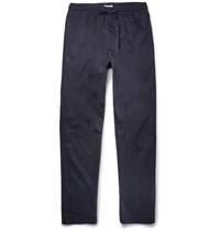 Tomas Maier Navy Tapered Stretch Cotton Suit Trousers