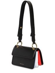 Marni Small Beat Leather Shoulder Bag Black