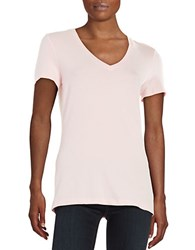 Lord And Taylor Petite Solid V Neck Tee Petal Pink