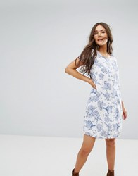 Traffic People Floral Shift Dress White