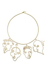 Rosie Assoulin Four Faces Necklace Gold