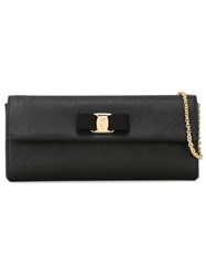 Salvatore Ferragamo 'Vara' Clutch Black