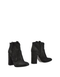 Space Style Concept Ankle Boots Black