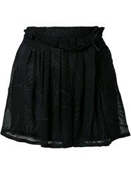 Ann Demeulemeester Embroidered Wrap Front Shorts Black