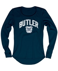 Blue 84 Women's Long Sleeve Butler Bulldogs Thermal T Shirt Navy