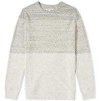 Helmut Lang Marl Block Crew Sweat Grey
