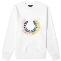 Fred Perry Authentic Process Colour Crew Sweat White