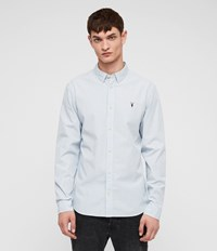 Allsaints Brookheaven Shirt White L.Blue Ink