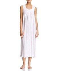 Eileen West Sleeveless Ballet Nightgown White Pink
