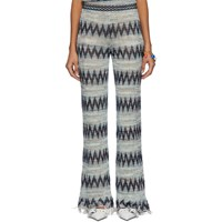 Missoni Blue And Multicolor Knit Zig Zag Lounge Pants