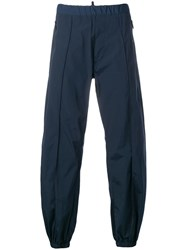 Dsquared2 Wide Leg Track Trousers Blue