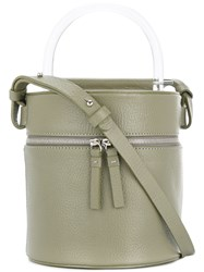 Building Block Round Top Handle Tote Bag Green