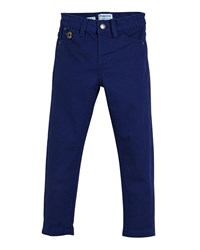 Mayoral Stretch Twill Straight Leg Trousers Size 3 7 Blue