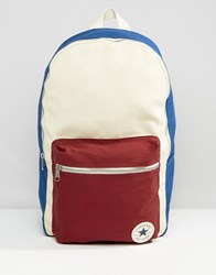 Converse Canvas Backpack With Contrast Pocket Multicolour