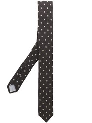 Eleventy Dot Embroidery Tie Brown