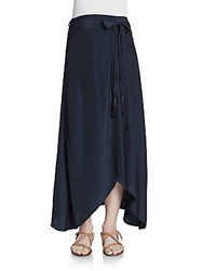 Calypso St. Barth Durna Solid A Line Skirt Navy