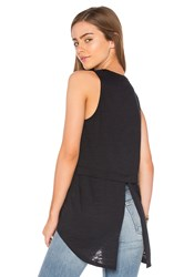 Nation Ltd. Cameo Tuxedo Back Tank Black