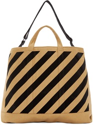 Off White Camel Wool Tote Bag