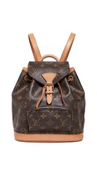 Wgaca What Goes Around Comes Around Louis Vuittons Monstouris Pm Backpack Brown