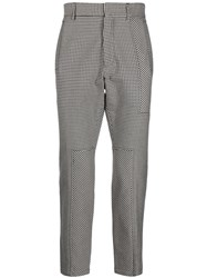 Just Cavalli Houndstooth Print Tailored Trousers Black