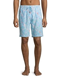 Peter Millar Fly Fish Swim Trunks Blue