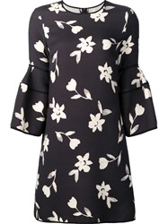 Carolina Herrera Bell Sleeve Mini Dress Black