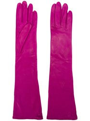 Erika Cavallini Long Gloves Pink And Purple