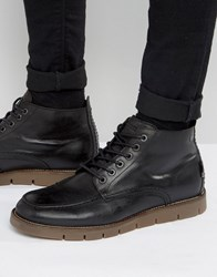 Jack And Jones Kingston Warm Lining Leather Boots Black