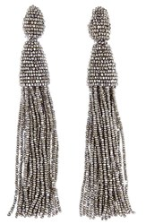 Oscar De La Renta Women's Long Tassel Drop Earrings Champagne