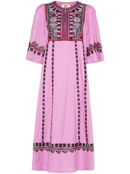Figue Electra Embroidered Dress Pink