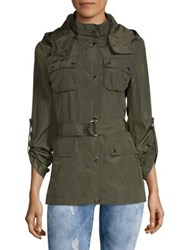 Bcbgeneration Classic Belted Anorak Army