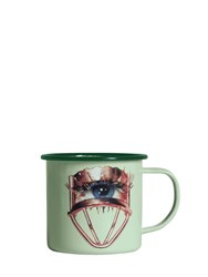 Seletti Eye Printed Metal Mug Multicolor