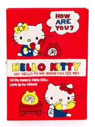 Olympia Le Tan Hello Kitty Book Clutch Bag Red