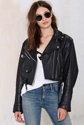 Nasty Gal Vintage Rebel Rouser Leather Moto Jacket