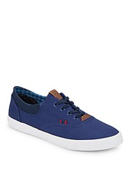 Ben Sherman Stevie Lace Up Canvas Sneakers Blue